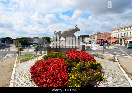 Beaucaire, Gard department in Languedoc-Roussillon in southern France, famous for its  course camarguaise in the - Stock Photo