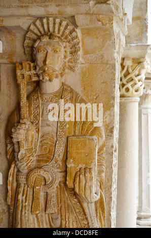 Aix Cathedral cloister statue of St. Peter Aix-en-Provence, Roman Catholic , seat of the Archbishop of Aix, France - Stock Photo