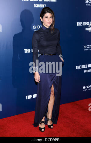 Marisa Tomei  New York premiere of 'The Ides of March' at the Ziegfeld Theater - Arrivals New York City, USA - 05.10.11 - Stock Photo