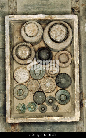 Old weights. Germany. - Stock Photo