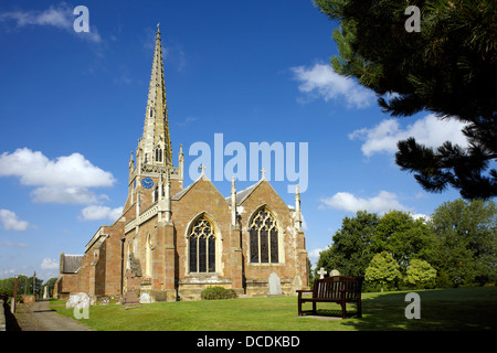 All Saints' Church Braunston village Northamptonshire Northants England UK GB rural England country life scenic - Stock Photo