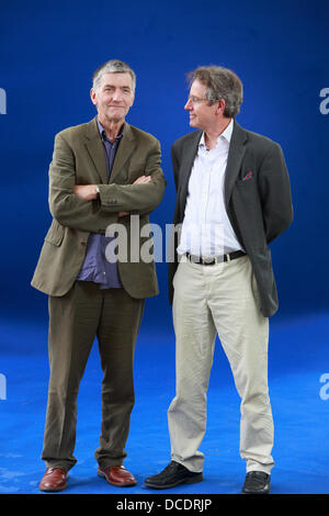 Edinburgh, UK. 15th August 2013.  Edinburgh International Book Festival 2013 portrait of Ian Fraser and Ray Perman - Stock Photo