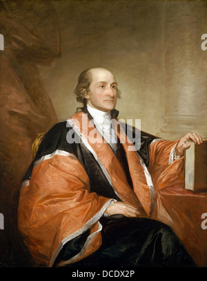 JOHN JAY (1745-1829) American statesman and first Chief Justice of the United States - Stock Photo