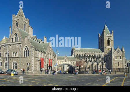 The cathedral of the Most Holy Trinity Christ Church of Ireland , Dublin, founded 1030 - Stock Photo