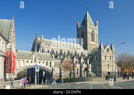 The Church of Ireland Cathedral of Christ Church in Dublin Ireland - founded in 1030 - Stock Photo