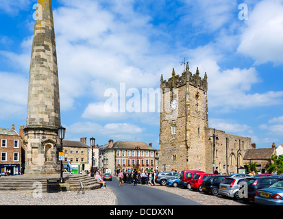 Historic Market Place in Richmond, North Yorkshire, Yorkshire Dales, England, UK, - Stock Photo