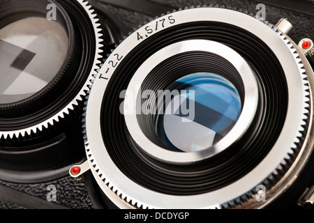 camera vintage macro lens closeup - Stock Photo