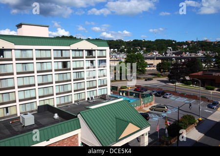 Cumberland-Downtown Holiday Inn building, Cumberland , Allegany County , Maryland , USA - Stock Photo