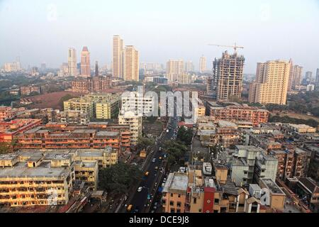 November 7, 2011 - Mumbai, Maharashtra, India - View of the Lower Parel neighborhood in Mumbai. As the Indian Economy - Stock Photo