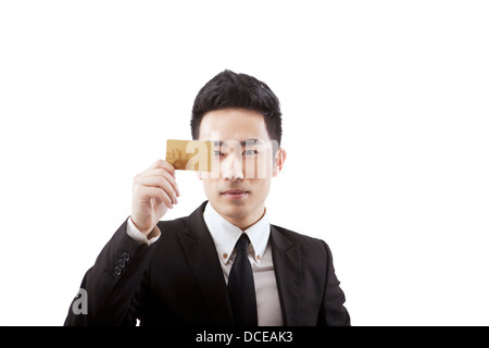 Indian business man showing credit card stock photo royalty free indian business man showing credit card business people holding a credit card stock photo reheart Choice Image
