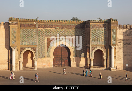 Bab El-Mansour gate in Meknes, Morocco - Stock Photo