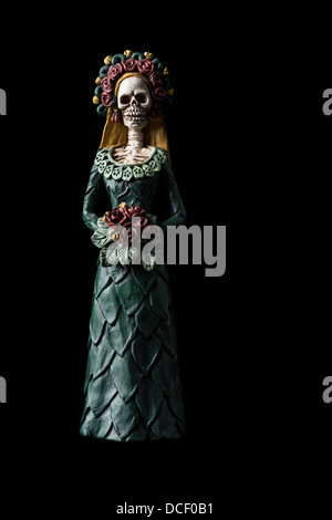 Catrina Calavera known as the 'Elegant Skull' Dia de los Muertos (Day of the Dead) celebration