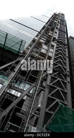 A  view of the Leadenhall Building or cheesegrater cheese grater building nearing completion in City of London England - Stock Photo