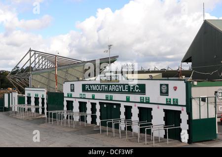 Plymouth Argyle Football Club Stock Home Park Ground