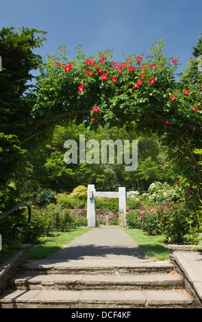 Rose arbor. Oregon Garden. Oregon Stock Photo: 125808885 - Alamy