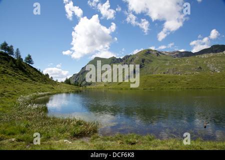Literan lake,Aosta Valley,Brusson - Stock Photo