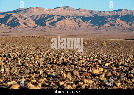 Desert landscape in Er Rachidia, Morocco - Stock Photo
