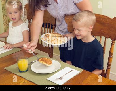 Eating Breakfast - Stock Photo