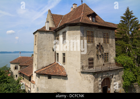 Meersburg Castle, Bodensee district, Baden-Wuerttemberg, Germany, Europe - Stock Photo