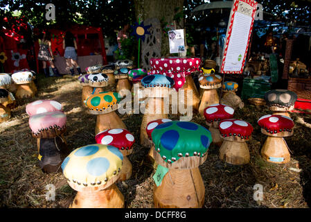 CRICKHOWELL, UK. 16h August 2013. Day two of Green Man Festival. © Polly Thomas Credit:  Polly Thomas/Alamy Live - Stock Photo