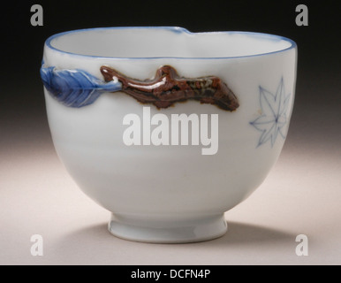 Peach-shaped Bowl with Maple Leaf Decor M.2002.147.6 - Stock Photo