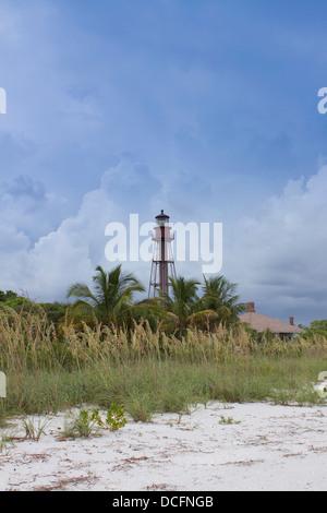 The Sanibel Island Light house Point Ybel Light - Stock Photo