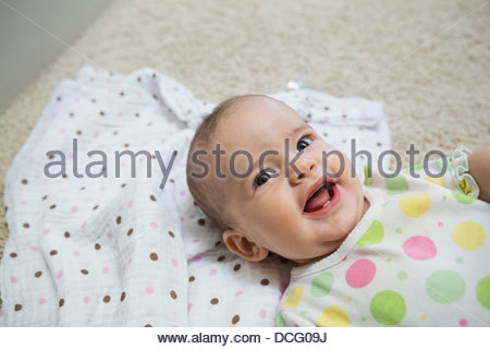 Portrait of baby girl - Stock Photo