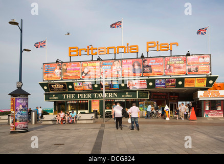 Britannia Pier, Great Yarmouth, Norfolk, England - Stock Photo