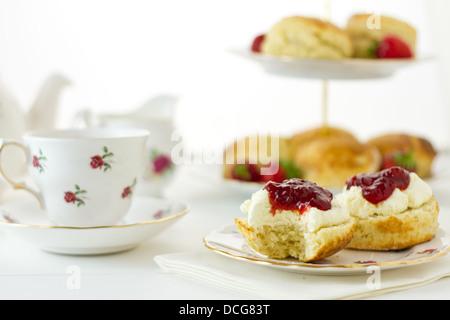 English Cream Tea - Stock Photo