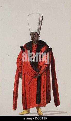 Turkish Personage and Costume- Kizlar Aghasi, Chief Eunuch M.85.237.61 - Stock Photo