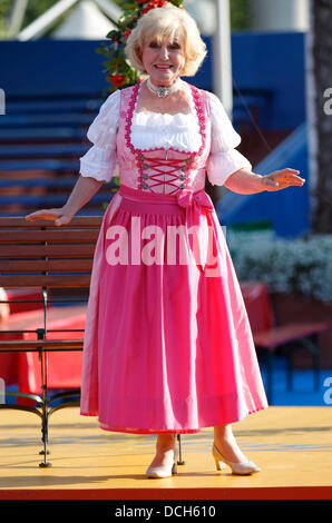 Rehearsals of German TV Show Immer wieder Sonnntags at Europapark in Rust, Germany on Saturday, 17.08.2013 - Stock Photo
