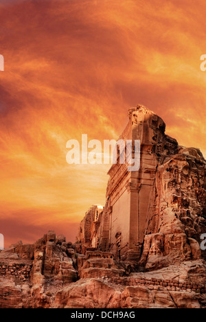 Ancient city of Petra, Jordan - Stock Photo