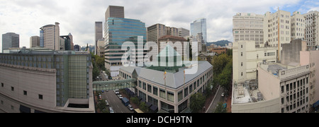 Portland Oregon Downtown Pioneer Shopping District Panorama