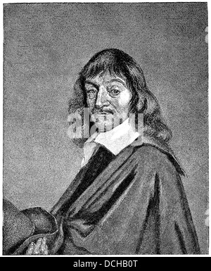 René Descartes or Renatus Cartesius, 1596 - 1650, a French philosopher, mathematician and scientist - Stock Photo
