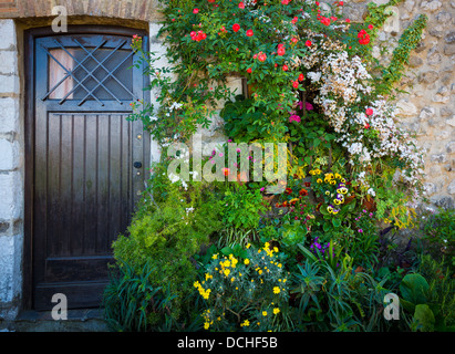 Front door on home in Saint Paul de Vence in France - Stock Photo
