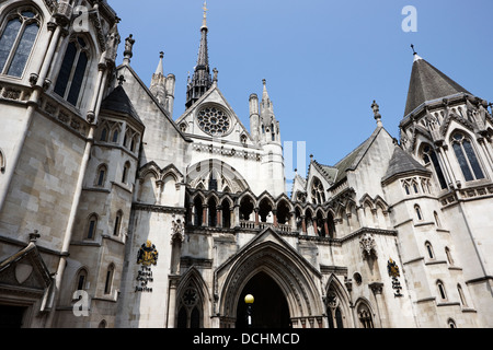 the royal courts of justice London England UK - Stock Photo