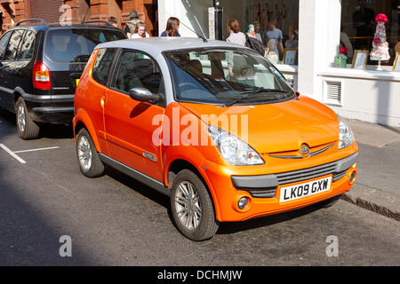 mega city electric car London England UK - Stock Photo
