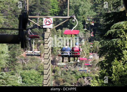 Cataract Gorge and First Basin Chairlift in the Tasmanian City of Launceston - Stock Photo