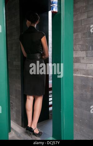 Miss Kathrin von Rechenberg fashion show at the Aman resort in Beijing on September 20th 2009. - Stock Photo