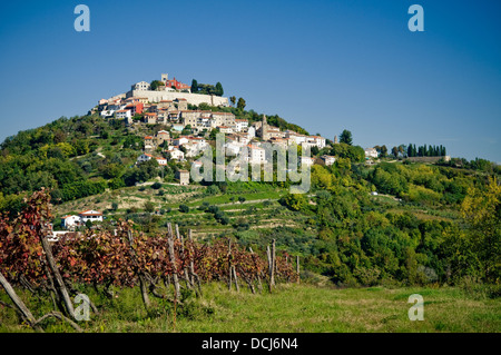 Old medieval town of Motovun. Croatia. - Stock Photo