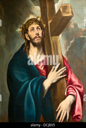 christ carrying the cross el greco essay Painting by el greco also known as english: christ holding the cross painting //wwwmuseodelpradoes/en/the-collection/art-work/christ-carrying-the-cross.