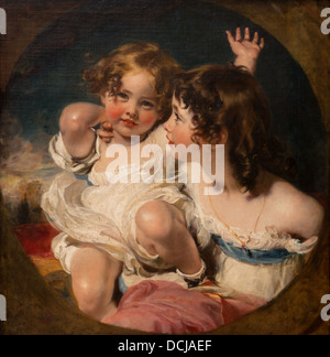 19th century  -  The Calmady Children - Sir Thomas Lawrence (1823) - Metropolitan Museum of Art - New York Oil on - Stock Photo