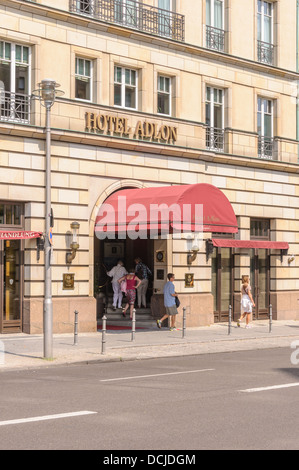 Back entrance of the Hotel Adlon Kempinski - Berlin Germany - Stock Photo