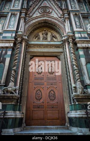 Door at Basilica di Santa Maria del Fiore, the main church of Florence, Italy Stock Photo
