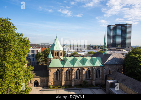 Dome of Essen, City hall. Essen, Germany. - Stock Photo