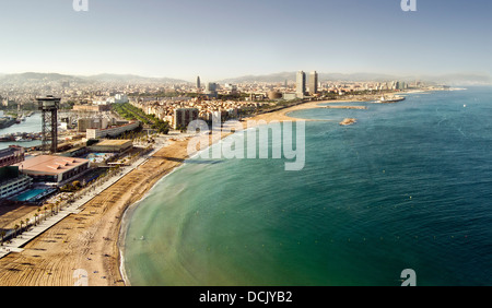Barceloneta beaches, Barcelona, Spain. - Stock Photo