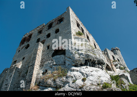 The ruins of a medieval castle in Ogrodzieniec - Stock Photo