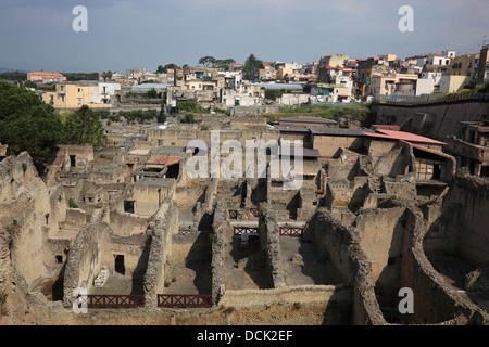 Ancient City of Herculaneum, Campania, Italy - Stock Photo
