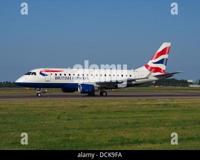 G-LCYE BA CityFlyer Embraer ERJ-170STD (ERJ-170-100) - cn 17000296 taxiing 18july2013 pic-001 - Stock Photo