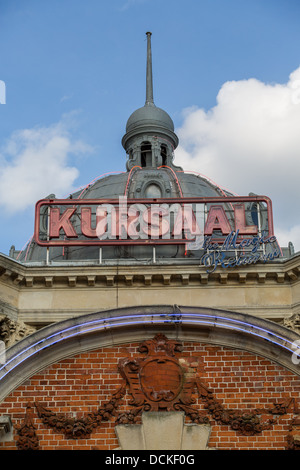 19/08/2013 the Kursaal sign and roof in Southend-on-sea - Stock Photo